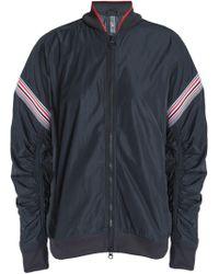 adidas By Stella McCartney - Woman Paneled Shell Jacket Charcoal - Lyst