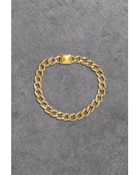 Noir Jewelry - 14-karat Gold-plated Crystal Bracelet Gold - Lyst