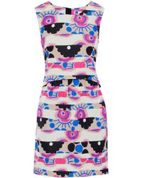 Footaction For Sale Cheap The Cheapest Milly Woman Laura Printed Cotton-blend Faille Mini Dress Fuchsia Size 10 Milly Free Shipping Pay With Visa Outlet Store For Sale Online Store ZMf168