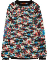 Missoni - Woman Oversized Bouclé-knit Wool-blend Sweater Black - Lyst
