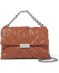 Stella McCartney - Becks Mini Quilted Faux Brushed-leather Shoulder Bag -  Lyst 0bc9a12ca34b8