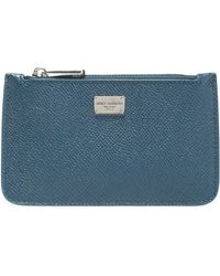 Dolce & Gabbana - Textured-leather Pouch - Lyst