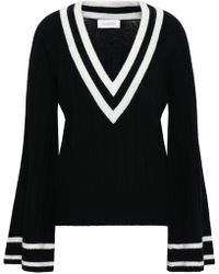 Zimmermann - Woman Maples Cricket Ribbed Wool And Cashmere-blend Sweater Black - Lyst