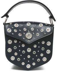 083bbe401836 Versus - Woman Studded Leather Shoulder Bag Black - Lyst
