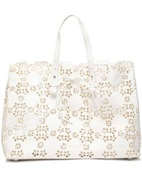 Simone Rocha - Laser-cut Textured-leather Tote - Lyst