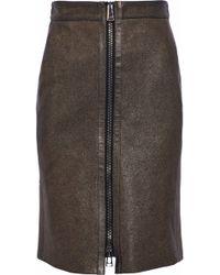 Belstaff - Metallic Leather Skirt - Lyst