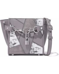 Alexander Wang - Chain-embellished Patchwork Leather And Suede Shoulder Bag - Lyst