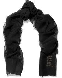 Just Cavalli - Embellished Silk-chiffon Scarf - Lyst