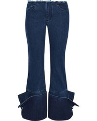 Marques'Almeida - Ring-detailed Frayed Low-rise Flared Jeans - Lyst