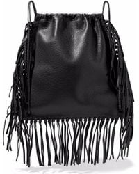 Valentino - Fringed Textured-leather Backpack - Lyst