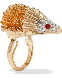 Kenneth Jay Lane - Gold-tone Crystal Ring - Lyst