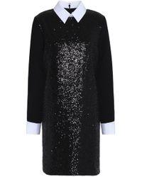 Victoria, Victoria Beckham - Sequined Crepe Mini Dress - Lyst