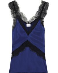 Cami NYC - Woman The Josie Lace-trimmed Silk-charmeuse Camisole Royal Blue - Lyst