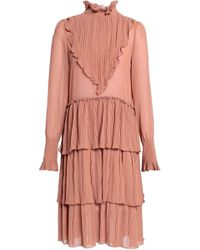 See By Chloé - Tiered Panelled Georgette Dress - Lyst