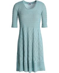 M Missoni - Pleated Crochet-knit Cotton-blend Mini Dress - Lyst