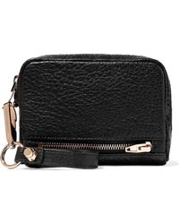 Alexander Wang - Fumo Textured-leather Wallet Black - Lyst