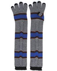 Missoni - Striped Wool Gloves Black - Lyst