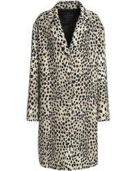 Roberto Cavalli - Wool-twill Coat Animal Print - Lyst