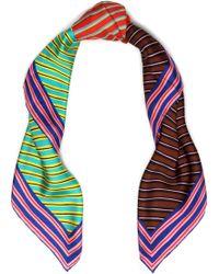 Diane von Furstenberg - Printed Silk-twill Scarf - Lyst
