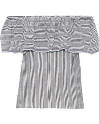Bailey 44 - Fetir Off-the-shoulder Striped Cotton-gauze Top - Lyst