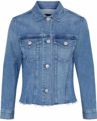 3x1 - Distressed Denim Jacket Mid Denim - Lyst