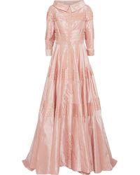 Carolina Herrera - Pleated Taffeta Gown - Lyst