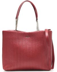 DKNY - Quilted Leather Tote - Lyst