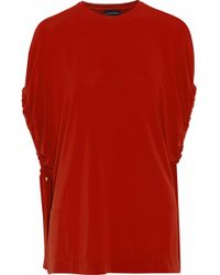 By Malene Birger - Draped Jersey Top Red - Lyst
