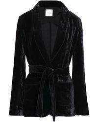 Joie - Belted Velvet Jacket - Lyst