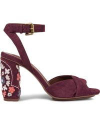 See By Chloé - Embroidered Suede Sandals - Lyst