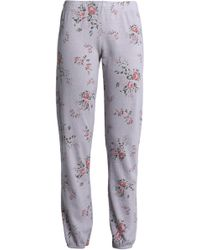 Monrow - Floral-print French Terry Track Pants - Lyst
