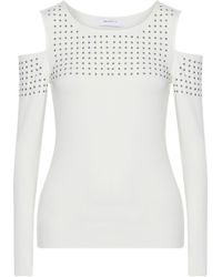 Bailey 44 - Still The One Cold-shoulder Studded Stretch-jersey Top - Lyst