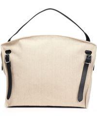 Jil Sander - Leather-trimmed Canvas Weekend Bag - Lyst