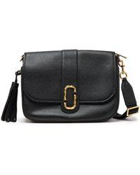 Marc Jacobs Tasselled Textured-leather Shoulder Bag Black