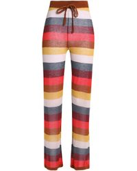 Love Stories - Striped Cotton-blend Pajama Pants - Lyst