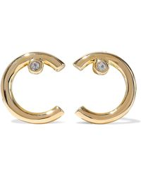 Elizabeth and James - Gold-plated Crystal Earrings - Lyst