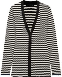 Proenza Schouler - Striped Ribbed Silk And Cashmere-blend Cardigan - Lyst