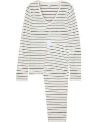 Iris & Ink - Woman Sadie Striped Stretch-jersey Pyjama Set Off-white - Lyst
