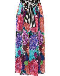 Matthew Williamson | Miyazaki Mirage Printed Silk-chiffon Wide-leg Trousers | Lyst