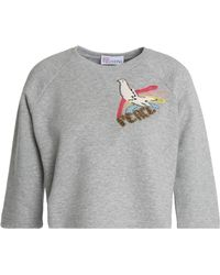 RED Valentino - Cotton-blend Terry Sweatshirt - Lyst