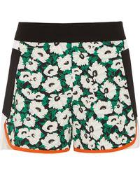 Stella McCartney - Kristele Floral-print Crepe Shorts - Lyst