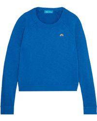 M.i.h Jeans - Embroidered Slub Cotton-jersey Sweatshirt Royal Blue - Lyst
