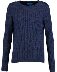 M.i.h Jeans - Moonstone Ribbed Cotton Jumper Storm Blue - Lyst