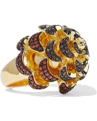 Noir Jewelry - Woman 14-karat Gold-plated Crystal Ring Gold - Lyst