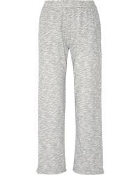 Skin - Cotton-blend Mouliné Pajama Pants - Lyst