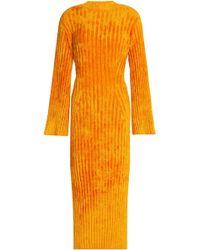 Pringle of Scotland - Ribbed Chenille Midi Dress - Lyst
