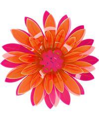 Issa - Azalea Neon Acrylic Flower Brooch - Lyst