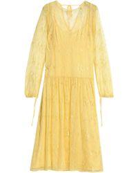Day Birger et Mikkelsen - Pleated Lace Midi Dress - Lyst