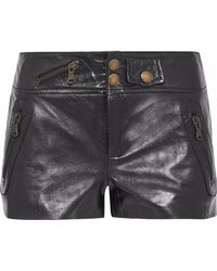 RED Valentino - Leather Shorts - Lyst