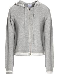 Madeleine Thompson - Zip-front Striped Mélange Wool And Cashmere Hooded Jumper - Lyst